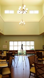 Reverberation Time Measurements in a Noisy Dining Hall